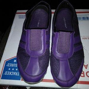 Purple Slip on Skechers